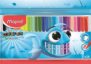 Maped Color'Peps Felt Tip Pen Set - Pack of 24