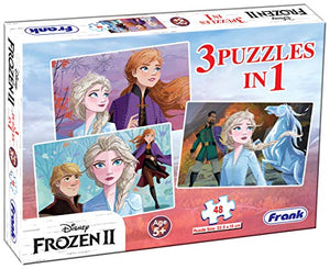 Frank Frozen 2 3 x 48 Pieces Puzzle for 5 Year Old and Above