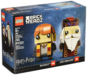 Limited Edition lego 41621 brickheadz Ron Weasley & Albus Dumbledore Building kit 245 Piece