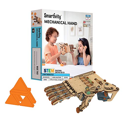 Smartivity Mechanical Hand STEM STEAM Educational DIY Building Construction Activity Toy Game Kit, Easy Instructions, Experiment, Play, Learn Science Engineering Project 8+with opposable thumb