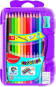 Maped Color'Peps Color Pencil Set - Pack of 12 (Multicolor)
