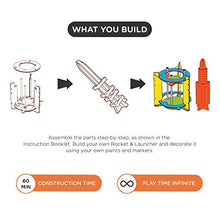 Load image into Gallery viewer, Smartivity Blast-off Space Rocket STEM STEAM Educational DIY Building Construction Activity Toy Game Kit, Easy Instructions, Experiment, Play, Learn Science Engineering Project 6+with Action Toy