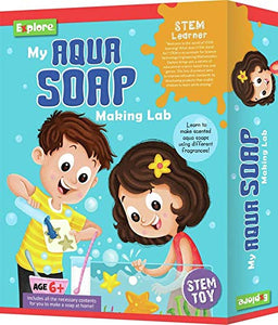Explore | STEM Learner | My Aqua Soap Making Lab (Learning & Educational DIY Activity Toy Kit, for Ages 6+ of Boys and Girls)