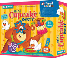Load image into Gallery viewer, Explore..| Perfumed Dough | Mini Cupcake Party (Fun & Creative Learning Activity Toy Set for Role-Play with 3 Colours of Non-Toxic Perfumed Dough for Ages 3+ of Boys and Girls)