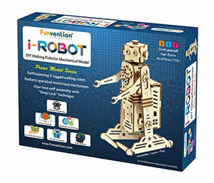 Funvention- for Little Scientist in Every Kid i-Robot Battery Operated DIY Self Balanced Walking Robotic Model Motor Powered STEM Learning Kit