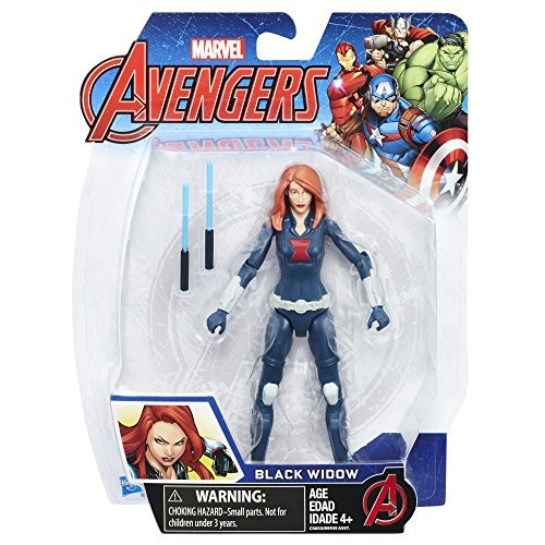 Marvel Avengers Black Widow 6-in Basic Action Figure, Ages 4 and Up