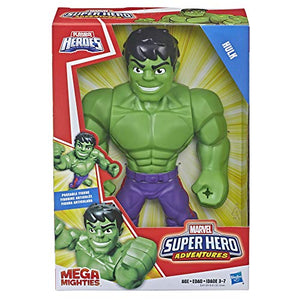 Super Hero Adventures Marvel Mega Mighties Hulk Collectible 10-Inch Action Figure, Toys for Kids Ages 3 and Up