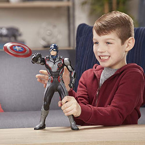 "Marvel Avengers Endgame Shield Blast Captain America 13""-Scale Figure Featuring 20+ Sounds & Phrases"