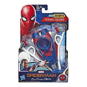 Marvel Spider-Man Web Shots Disc Slinger Blaster Toy for Kids Ages 5 and Up