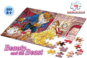 Frank Disney's Beauty & The Beast Puzzle for 6 Year Old Kids and Above
