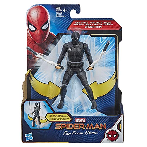 Marvel Spider-Man: Far from Home Web Strike Spider-Man 6-Inch-Scale Hero Action Figure Toy – Ages 4 and Up