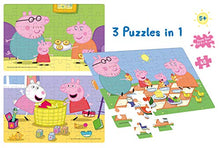 Load image into Gallery viewer, Frank Peppa Pig Puzzle (3 x 48 Pcs)