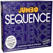 Load image into Gallery viewer, Jumbo Sequence Family Card Board Game, 32x27-inch
