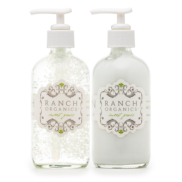 Sweet Grass Wash & Lotion Set - Clear