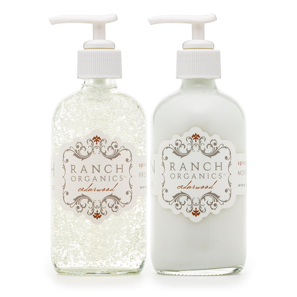 Cedar Wood Wash & Lotion Set - Clear