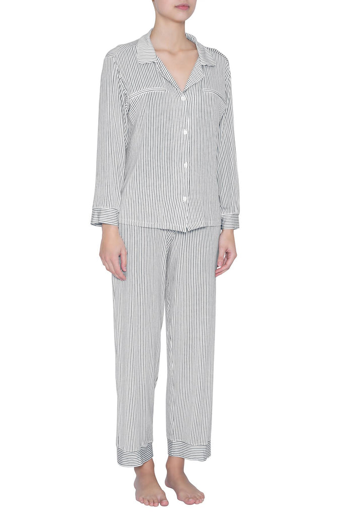 Eberjey Stripe Long PJ Set