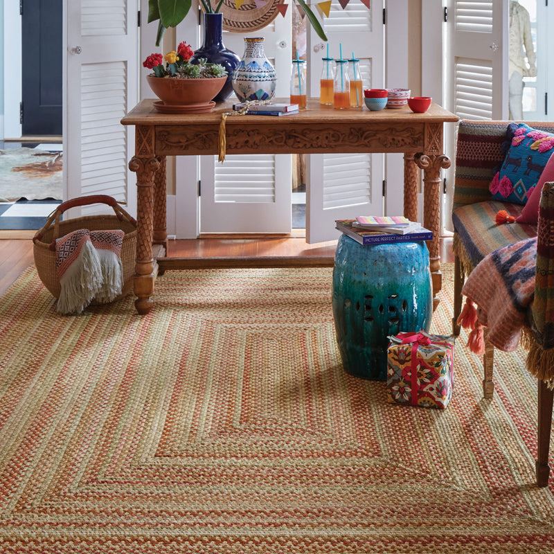 homecoming braided rug in fiesta party room scene