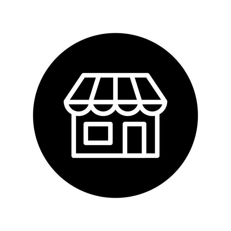 shop in store icon with store