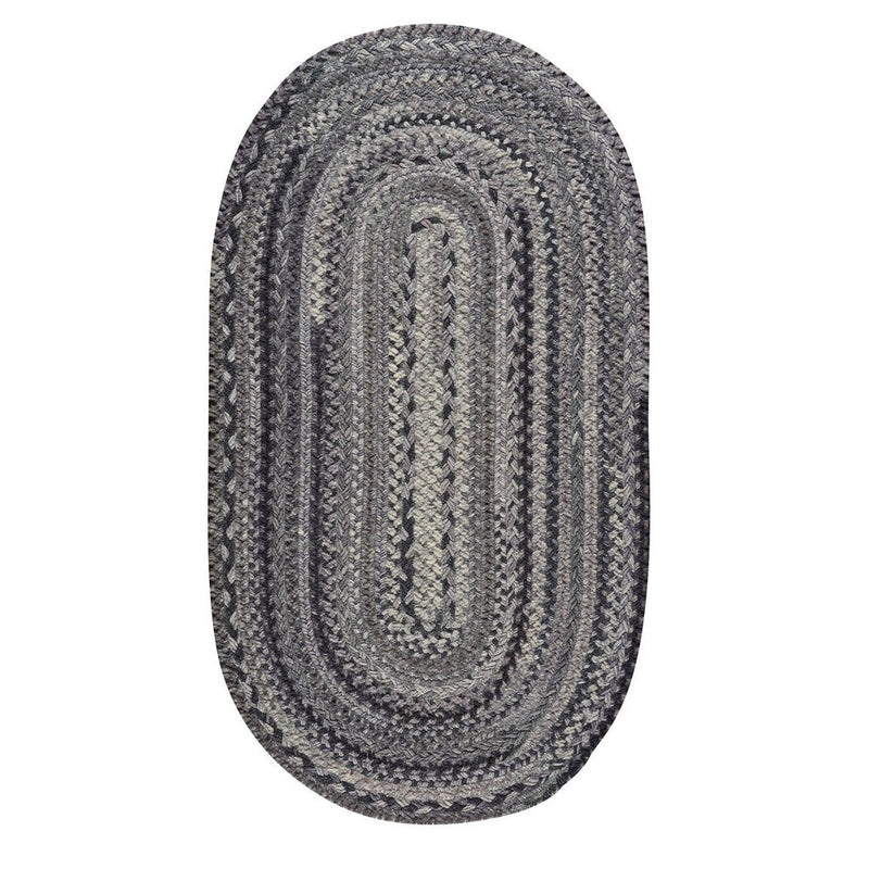 Bayview Metal Braided Rug Oval image