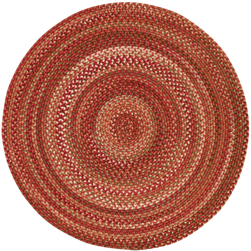 Homecoming Rosewood Red Braided Rug Round image