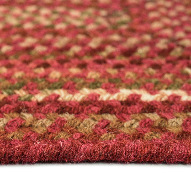 Homecoming Rosewood Red Braided Rug Concentric Cross Section image