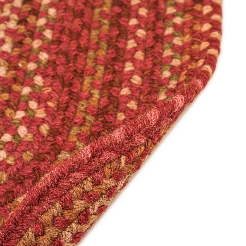 Homecoming Rosewood Red Braided Rug Oval Back image