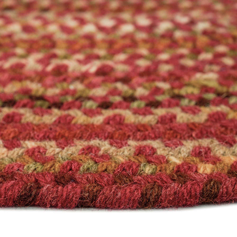 Homecoming Rosewood Red Braided Rug Oval Cross Section image