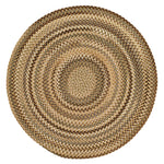 Homecoming River Rock Braided Rug Round image