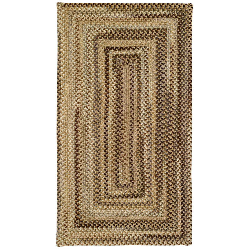 Homecoming River Rock Braided Rug Concentric image