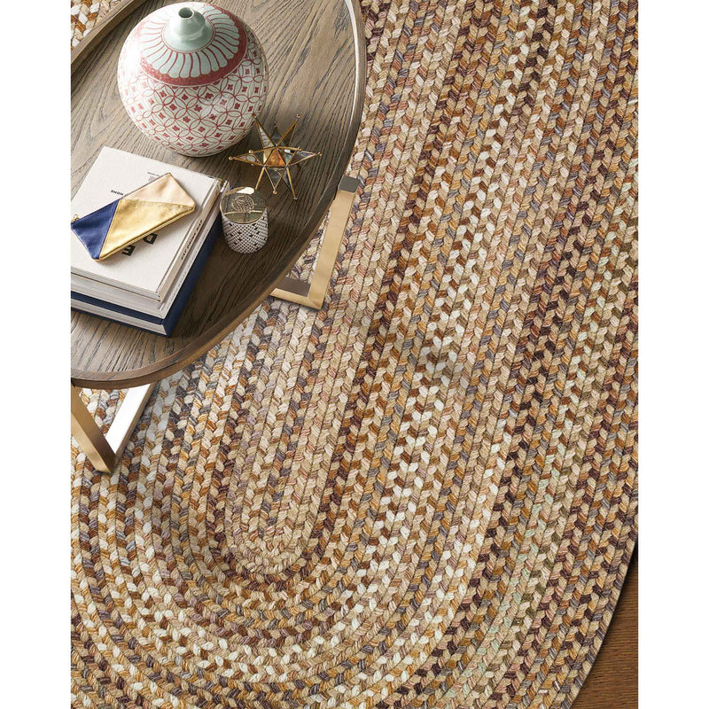 Homecoming River Rock Braided Rug Oval Roomshot image