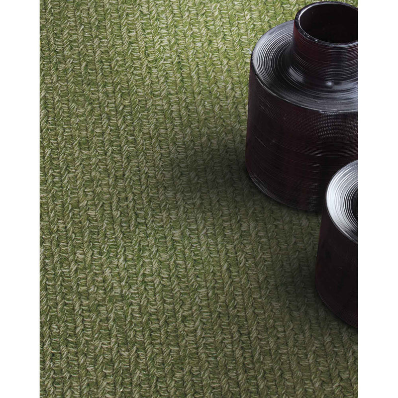 Heathered Sage Green Braided Rug Rectangle Roomshot image