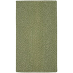 Heathered Sage Green Braided Rug Rectangle image
