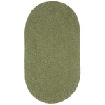 Heathered Sage Green Braided Rug Oval image