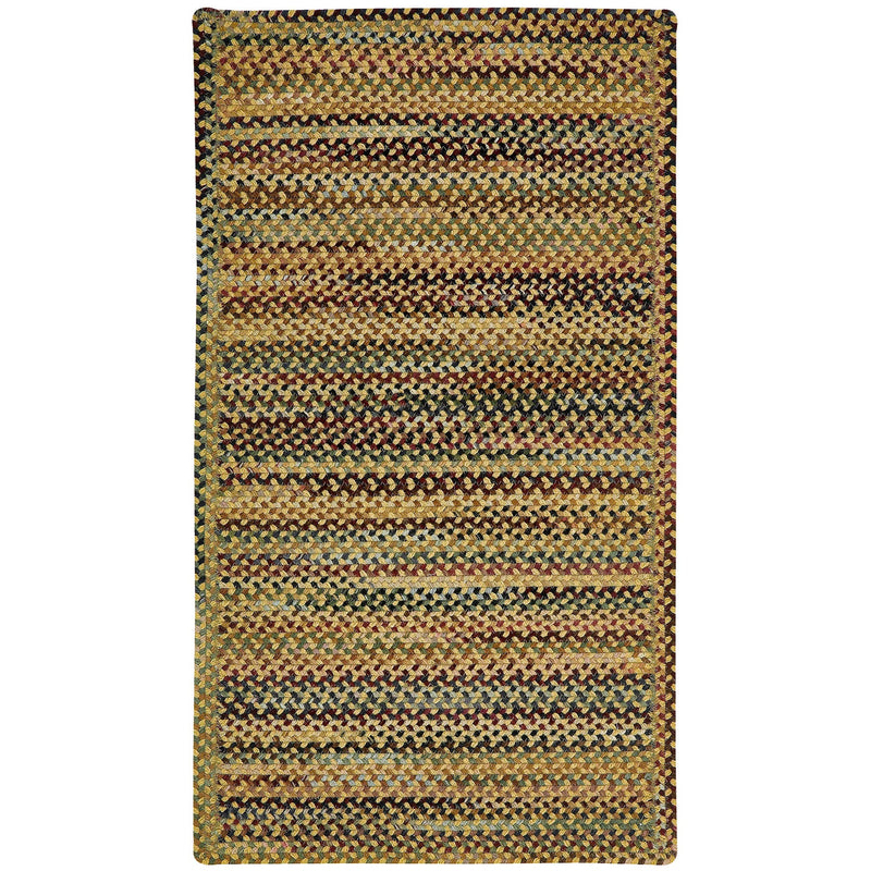 Gramercy Gold Braided Rug Cross-Sewn image