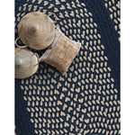 LM-Navy Classic Poly Braid Navy Braided Rug Oval Roomshot image