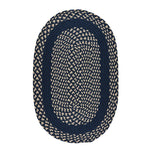 LM-Navy Classic Poly Braid Navy Braided Rug Oval image