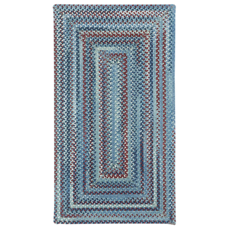 American Legacy Old Glory Braided Rug Concentric image