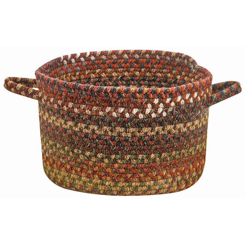 American Legacy Antique Multi Braided Rug Basket image