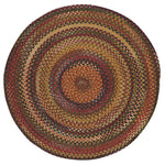 American Legacy Antique Multi Braided Rug Round image