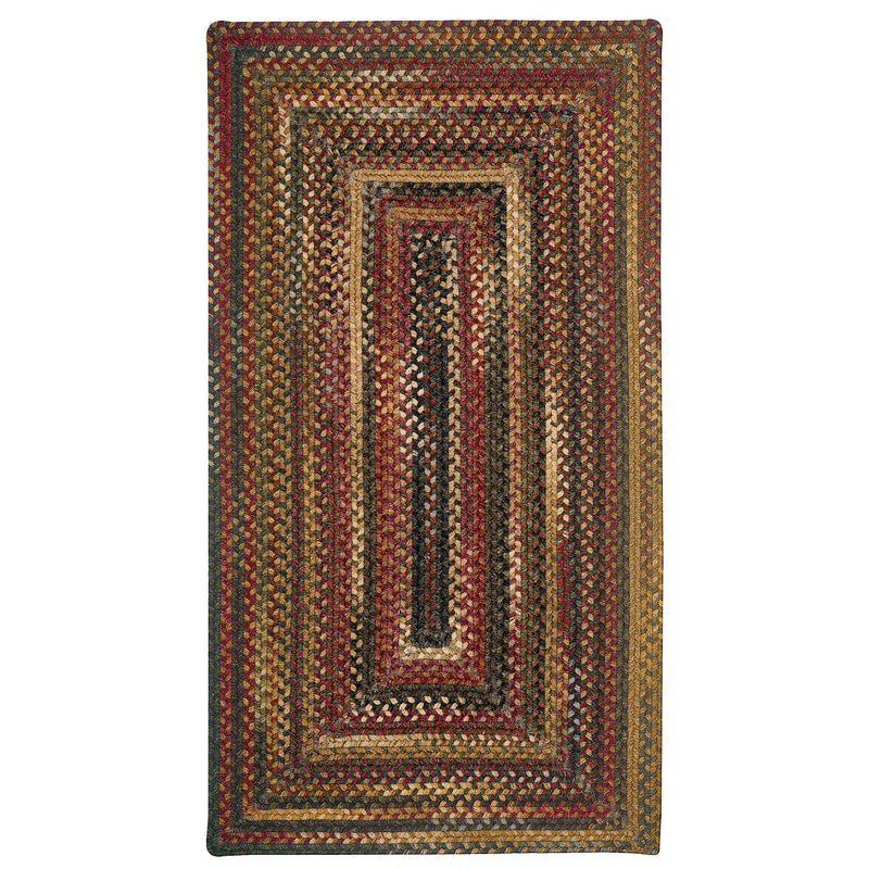American Legacy Antique Multi Braided Rug Concentric image