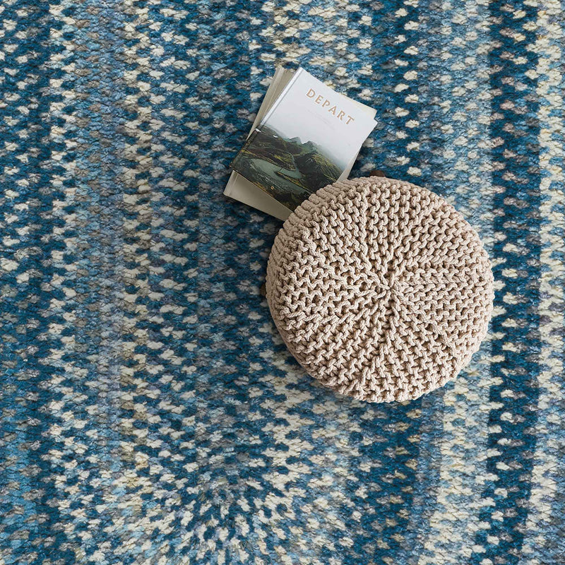 Synergy Chambray Braided Rug Oval Roomshot image