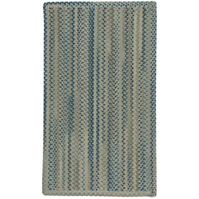 Fusion Blue Taupe Braided Rug Rectangle image