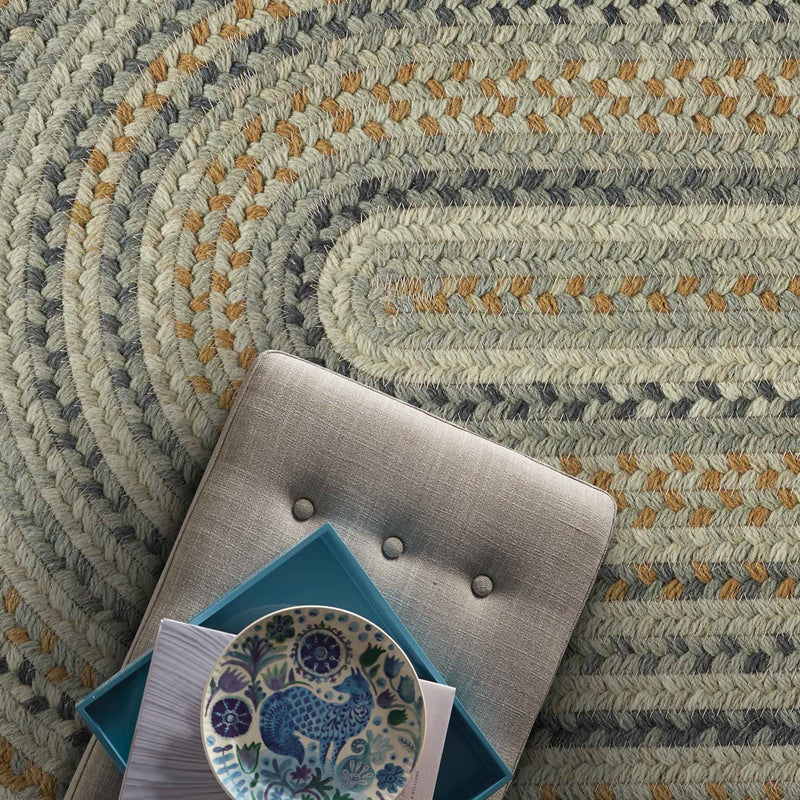 Fusion Desert Taupe Braided Rug Oval image
