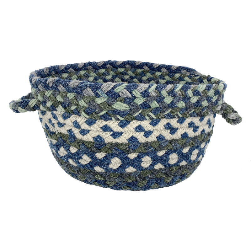 Wanderer Deep Blue Braided Rug Basket image