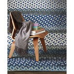 Wanderer Deep Blue Braided Rug Cross-Sewn Roomshot image