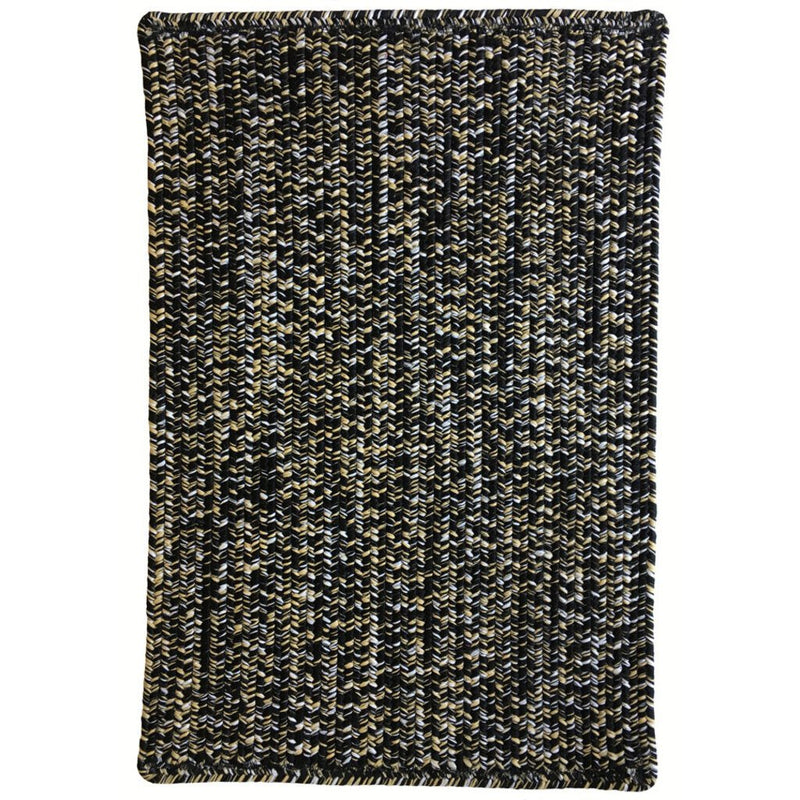 Team Spirit Black Old Gold Braided Rug Rectangle image