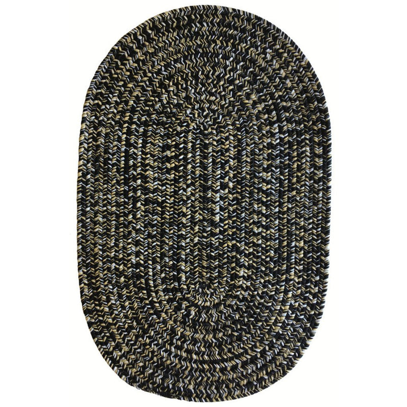 Team Spirit Black Old Gold Braided Rug Oval image