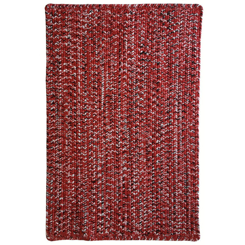 Team Spirit Red Black Braided Rug Rectangle image