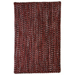 Team Spirit Garnet Black Braided Rug Rectangle image