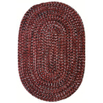 Team Spirit Garnet Black Braided Rug Oval image